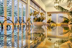 Outdoor Living Areas with Aluminum Shutters = Beautiful shutters. Outdoor Living Areas, Shutters, Gallery, Plants, Room, Inspiration, Furniture, Beautiful, Ideas