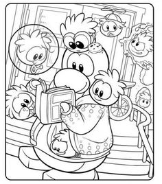 puffle coloring 10 free pictures of club penguin coloring pages