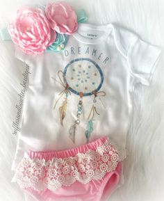 She's your boho babe and dreamer, creating her own fairytale. This shirt is perfect for your gal, full of dreams and sole. THIS LISTING IS FOR THE ONESIE ONLY - $16.99 Pair with our darling boho Tutu