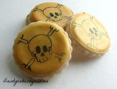 60 mini pirate gold coin loot cookies by daintycakesbyandrea, $25.00