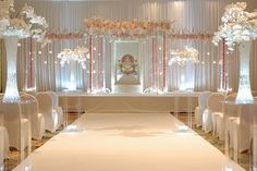 And acrylic mandap elegantly decorated with hanging floral, candles, and crystals. Event Decorators : Occasions By Shangri-la Wedding Mandap, Desi Wedding, Elegant Wedding, Wedding Events, Wedding Ceremony, Desi Bride, Gift Wedding, Wedding Receptions, Trendy Wedding