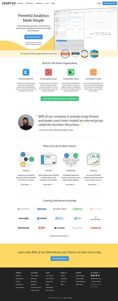 Chartio's cloud-based business intelligence and analytics solution enables everyone to analyze their data from their business applications. Number Munchers, Business Intelligence, Data Analytics, Cloud Based, Landing, Make It Simple, Clouds, Website