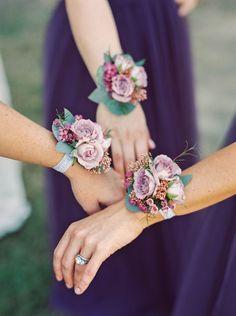 Pale Lavender Wrist Corsages