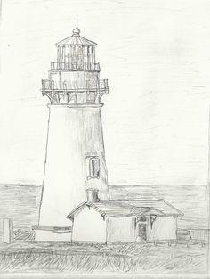 Yaquina Head Lighthouse Drawing by ~MagicalMayhem7 on deviantART