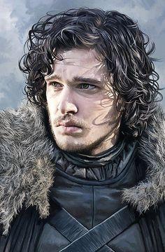 Jon Snow - Game Of Thrones Kunstwerk Kunstdruck von Sheraz A Dessin Game Of Thrones, Arte Game Of Thrones, Game Of Thrones Tyrion, Game Of Thrones Artwork, John Snow, Jon Schnee, Got Merchandise, Game Of Thones, Snow Art