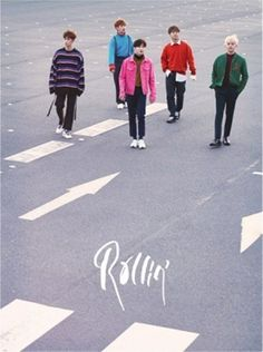 B1A4 7th Mini Album [Rollin'] Gray Ver. K-POP CD+Photobook+Photocard+Poster #Pop