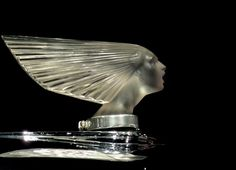 """Spirit of the Wind""  hood ornament by René Jules Lalique"