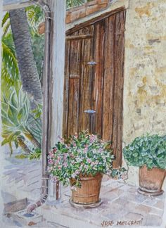 Original Watercolor Painting on 140 Lb acid free cold press watercolor paper. By J. Melgratti