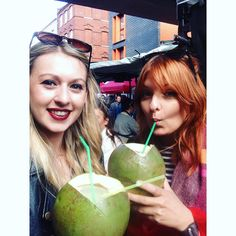 Fresh coconuts on Brick Lane @misscharlotte88 #coconut #coconutwater #shoreditch #bricklane #london