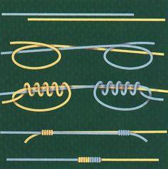 How to make sliding knot / Как завязать скользящий узел, которым можно регулировать длину колье или браслета