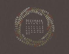 adored art: december desktop calendars – Thoughts By Natalie