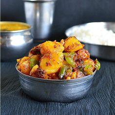 Potato Capsicum Curry Recipe – Aloo Capsicum Subzi Recipe | Tickling Palates #triedandloved Double the bell pepper.