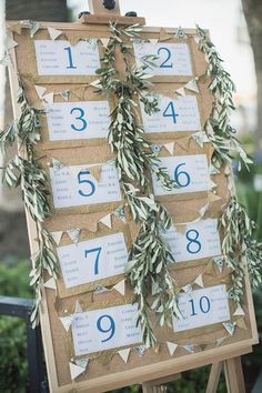 Good for seating chart - use bulletin board from home and cover with fabric.