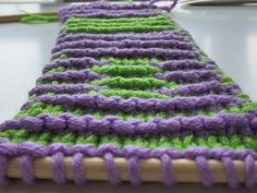 How to Shadow Knitting * Illusion Knitting * Secret Patterns hidden in Stripes