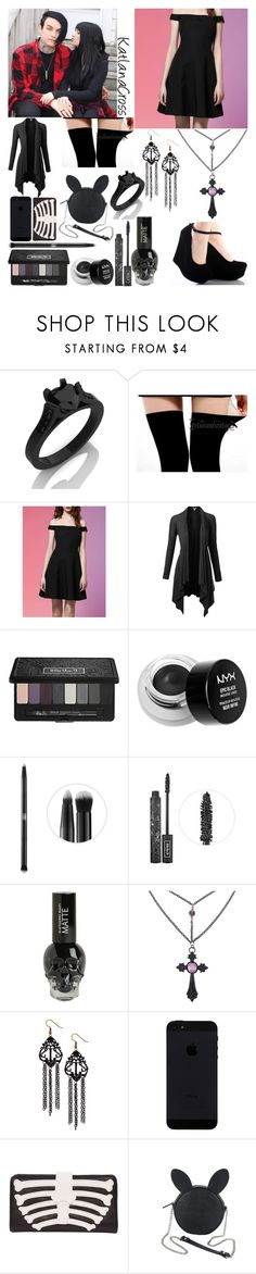 """""""Double Date with Nicholas Matthews and Jessica Ess"""" by katlanacross ❤ liked on Polyvore featuring WithChic, Doublju, Kat Von D, NYX, Iron Fist, Disney, NicholasMatthews and jessicaess"""