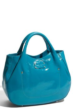 Turquoise patent leather awesomeness.