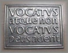 ":) ""Vocatus atque non vocatus, Deus aderit"" Latin inscription meaning ""Invoked or not invoked, God is present. Quotes About God, Quotes To Live By, Me Quotes, Latin Quotes, Latin Phrases, Latin Words, God Is, My Philosophy, Carl Jung"