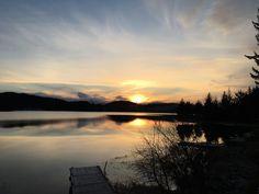 Auke lake sunset❤️