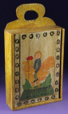 Antieke houten schooltas