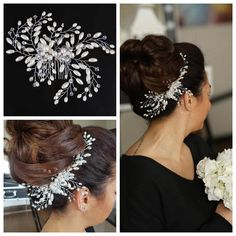 Bridal Hair Piece Bridal Hair Combo Hair Jewelry Wedding