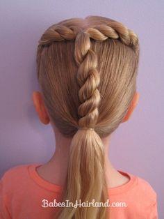 """""""T"""" rope braid @ BabesInHairland.com"""