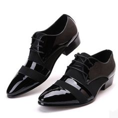Men Business Formal Wear Leather Shoe Pointed Toe Male England Style Fashionable Wedding Shoes