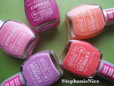 Maybelline nail polish colors for Fashion Week Spring 2012