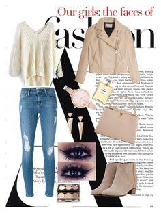 """""""#lovefashion#"""" by edytamurselovic ❤ liked on Polyvore featuring Frame Denim, Chicwish, Louis Vuitton, Augusta, T By Alexander Wang, River Island and Chanel"""