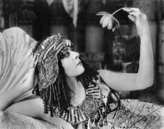 Theda Bara on the set of Cleopatra, 1917.