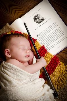 Newborn Photography. Harry potter themed. Photo by: Court Street Portraits in Beatrice, Ne.