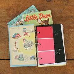 diy 3 ring notebook using vintage book for cover