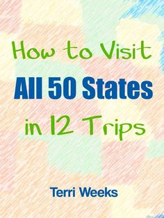 How to Visit All 50 States in 12 Trips - This free e-book has itineraries for 12 trips that take you to all 50 states. Each is filled with kid-friendly attractions and must-see sights all over the country. Written by the author of Travel 50 States Travel Info, Time Travel, Travel Usa, Travel Tips, Travel Ideas, Travel Hacks, Bermuda Travel, Travel Goals, Travel Packing