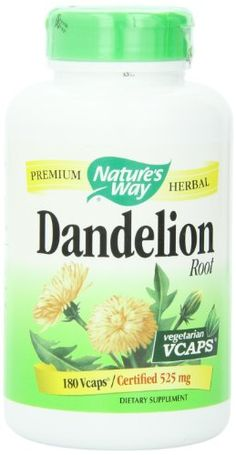 Nature's Way Dandelion Root Veg-capsules, 525 mg, 180-Count Nature's Way http://www.amazon.com/dp/B0002IWCLU/ref=cm_sw_r_pi_dp_I.Daxb1N50GSZ