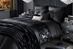 Black and Silver Bedroom Ideas   For the Home   Pinterest   Silver ...
