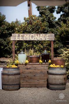 Photography: Brandon Wong Photography Coordinator: An Enlightened Event Venue: Limoneira Ranch Baptism Party Decorations, Garden Party Decorations, Brandon Wong, Village Festival, Rusty Garden, Lemon Party, Garden Cafe, Outdoor Food, Reception Party