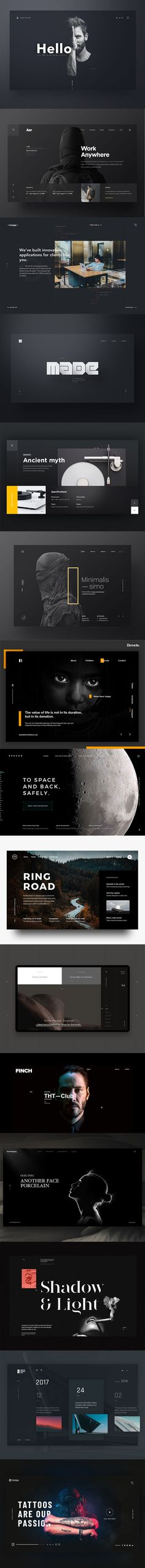 So if you are looking for inspiration for design solutions which using dark background as a basis of color scheme, here are 50 Excellent Dark Background Web UI Designs to inspire you. Web Design Trends, Web Design Tutorial, Flat Design, Graphisches Design, Homepage Design, Web Design Tips, Design Studio, Layout Design, Icon Design