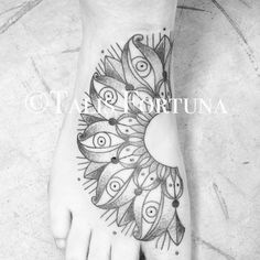talisfortunatattoo  on Instagram Tibetan inspired foot mandala by Crow Rising