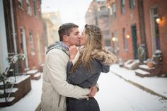 Snowy Engagement Session in Baltimore  ||   J.Fannon Photography  ||  Charm City Wed  ||  www.charmcitywed.com