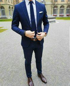 Navy Blue Suit - Love It! #suit