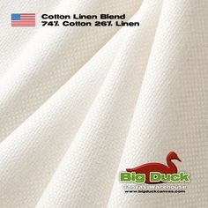 Wholesale Distributors of Made in the USA Preshrunk White Cotton Linen Blend Fabric for Upholstery and Drapery Home Decor Linen Upholstery Fabric, Drapery Fabric, Linens And More, White Fabrics, Slipcovers, Cotton Linen, Accent Pillows, Usa
