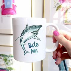 Shark Mug. Order yours at Boardman Printing.