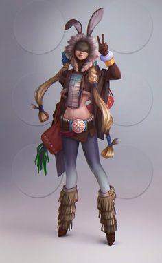 Rabbit-girl by Lagunaya