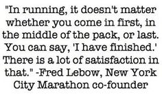 It doesn't matter where you finish, it only matters THAT you finish