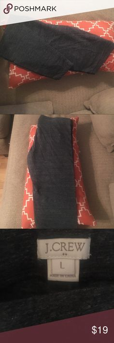 JCrew leggings Dark grey J Crew leggings. Great condition. J. Crew Pants Leggings