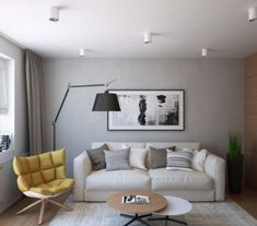 This small one-bedroom apartment in Moscow, Russia has a very unique design by Geometrium Design Studio. Zeitgenössisches Apartment, One Bedroom Apartment, Modern Apartment Design, Contemporary Apartment, Home Theather, Relaxation Room, Space Interiors, Small Apartments, Interior Architecture