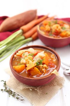 Went too hard on holiday foods? This soups gotchu. Get the recipe from The Healthy Maven.   - Delish.com