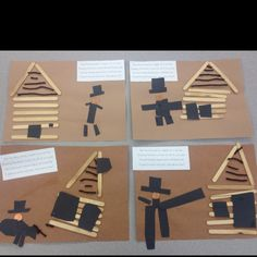 Aren't these the cutest?! An Abe Lincoln craft idea I borrowed from a teacher I work with :)