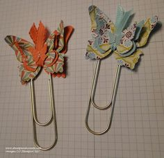 Butterfly Paper Clip Bookmarks