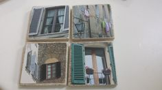 Florence, Italy... windows to the street, captured on coasters