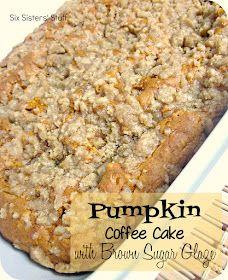 Six Sisters' Stuff: Pumpkin Coffee Cake with Brown Sugar Glaze Recipe